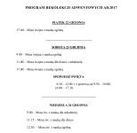 Program Rekolekcji Adwentowych 2017