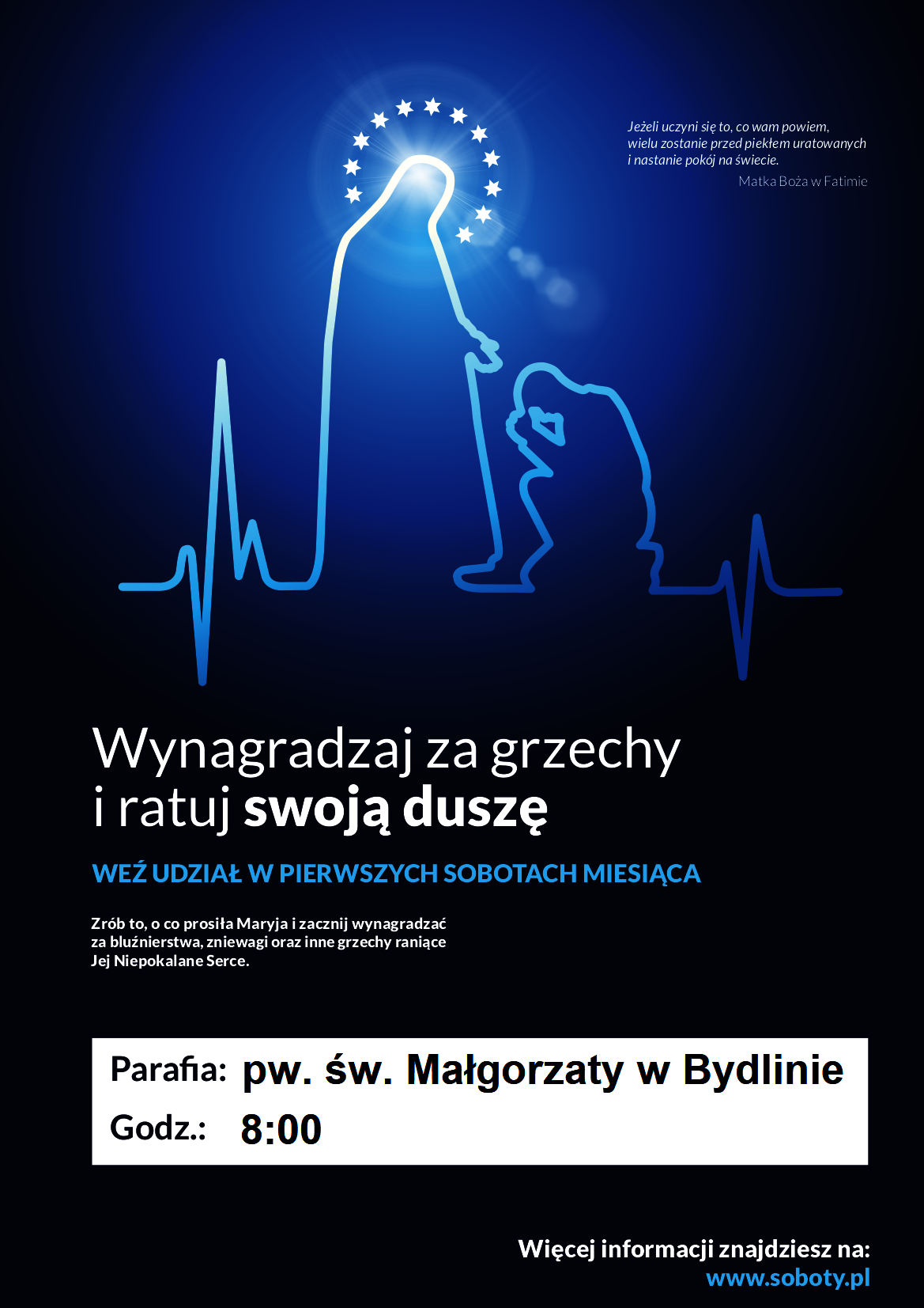 Plakat Pierwsze Soboty- Bydlin