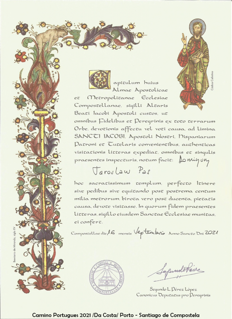 7. Certyfikat Camino